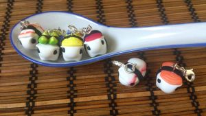 Tiny sushi piggies in a spoon by RoOsaTejp