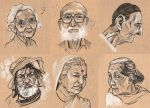 Draw ten a day - old people by Anarasama