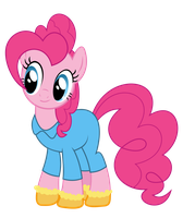 Pinkie in pajamas and socks by alexiy777
