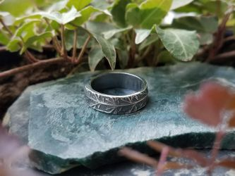 Handmade Pure Silver Yarrow Ring by QuintessentialArts