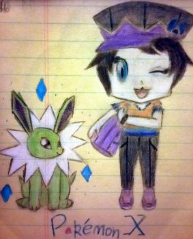Pokmon X : Main Character and Shiny Jolteon by Awesome-Chipz
