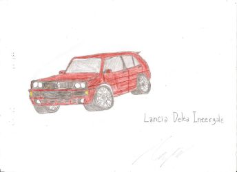 Request: Lancia Delta Intergale by C4Fuu