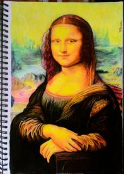 Drawing Monalisa by TheComicArtist