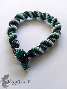 'First Snow' Cellini Spiral Bracelet by TheWingedShadow