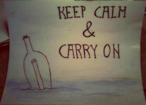 Keep Calm and Carry On by XxZombiiDollxX