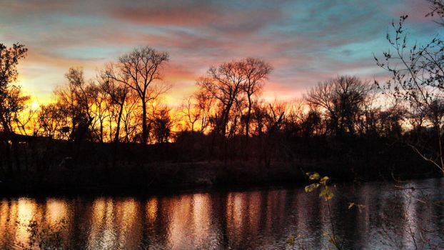 Sunset on the Colorado River by herbalcell