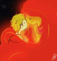 Finn and Flame Princess~! by Cakeeecrazy