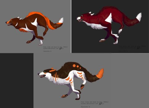 Adopted Wolves by Bitten2007