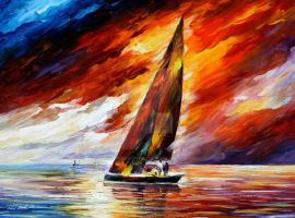 With The Wind by Leonid Afremov by Leonidafremov