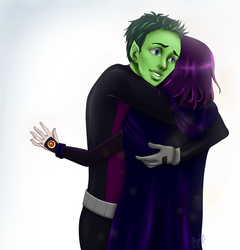 Beast Boy and Raven: I'm so glad you're okay by Mariyand-R