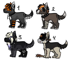 Edgy Dogs [closed] by Escaboo-Adopts