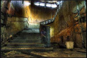 Stairs, Abandoned sanatorium by coolmacc