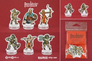 Barbarians RPG Miniatures by Pasiphilo