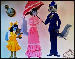 Early 1900's Wolf Family by FlapperFoxy