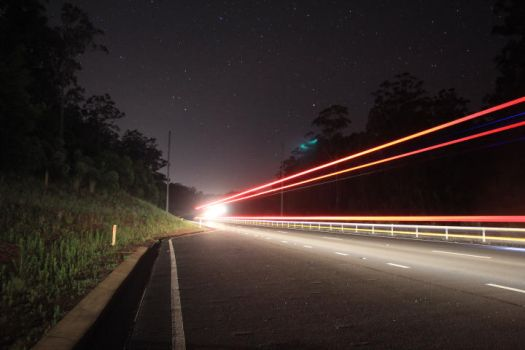 lights on the highway by emnollie