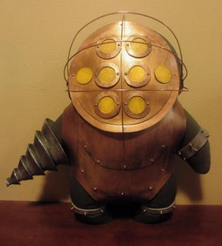bioshock big daddy plush, chibi style! by viciouspretty