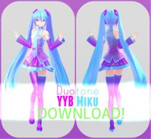 YYB Duo-tone Miku || DL by Diva-K