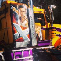 Xmen Wolveirne on a Truck by Megalomaniacaly