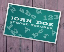 Business Card For Teacher by Freshbusinesscards