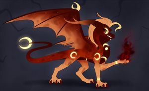 Dragon Egg Hatched - Bloodmoon Curse by IcelectricSpyro