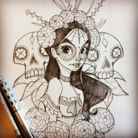 Day of the Dead Sketch by ChrissieZullo