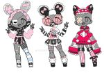 Menhera Outfit Adopt Set [Closed] by yuki-white