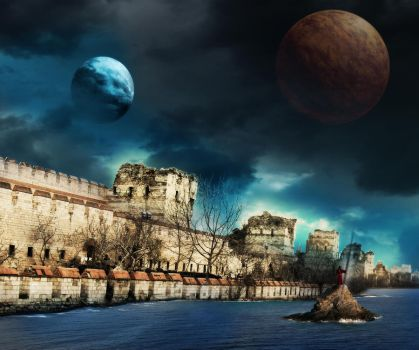Photo Manipulation of Constantinople City Walls by i-sheem