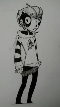(inked up) Tim Burton inspired by MaskedFriend