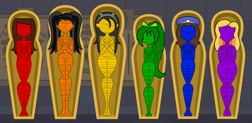 A Colorful Selection of Mummies by Flashlight237