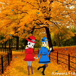 Betty and Sally's Beautiful Autumn Stroll by Rapper1996