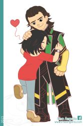 Commission Girl and Loki by electra-gretchen