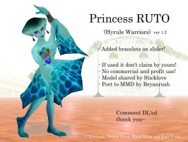 MMD Princess Ruto (Hyrule Warriors) DL by Jakkaeront