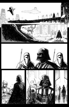 Star wars sample page 2 inks by JoeyVazquez