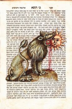 A lion swallowing the Sun, an alchemy symbol by medievaloccultart