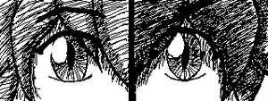 Miiverse Doodle #36 - Light and Dark by ChibiSkeven