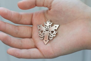 Death Guard stainless steel pendant Warhammer 40k by Snoopyc
