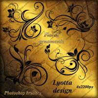 photoshop brushes floral ornament by Lyotta