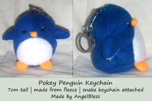 Pokey Penguin Keychain -For sale- by AngelBless