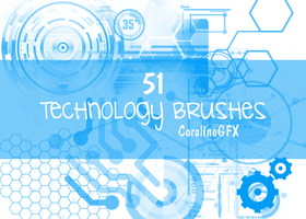 51 Technology Brushes by GhostxMadnessGirl