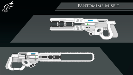'Pantomime Misfit' - RWBY OC Weapon by DenalCC1010
