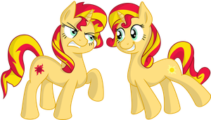 Sunset and Shimmer by SpinOffJoe