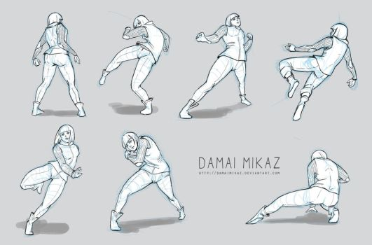 how to draw fighting poses