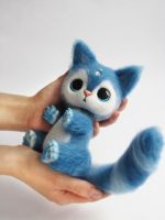 Author toy Needle Felted Calvin 3 of 7 by Lyntoys