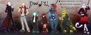 The UnderFell AU - SchoolFell by MuddyTiger