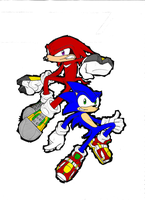 sonic_knuckles-colored- by chukadrawer