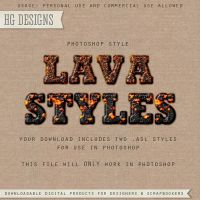PS Style: LAVA by HGGraphicDesigns