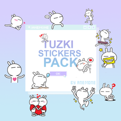 Tuzki Stickers Pack by Anemone by myanemone