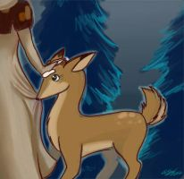 The Witch and the Deer by digitallyfanged