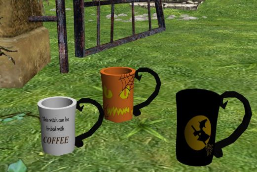 Halloween coffee cups DL by me-ooks