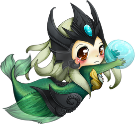 Chibi Nami - League of Legends by linkitty